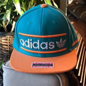 Adidas Originals Snapback Hat Orange Turquoise